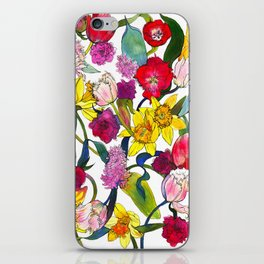 Tulips & Daffodils  iPhone Skin