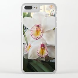 Wild White Orchids Clear iPhone Case