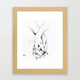 Holding Hands Framed Art Print