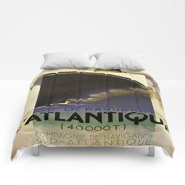 Vintage poster - L'Atlantique Comforters