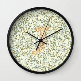 """J"" Eye Test Full Wall Clock"
