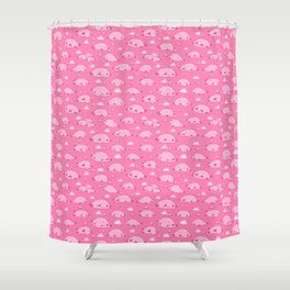 Bulbous Blobfish Shower Curtain