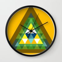 shield Wall Clocks featuring shield by pixel.pwn | AK