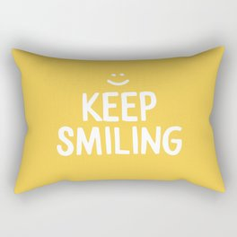 Keep Smiling Quote - Yellow Rectangular Pillow