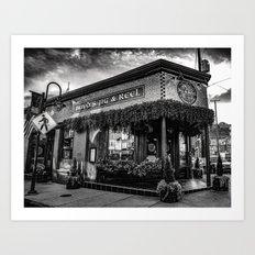 Boyds Jig and Reel Pub - BW Art Print