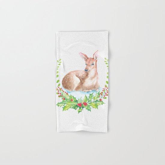 Winter animal #15 Hand & Bath Towel