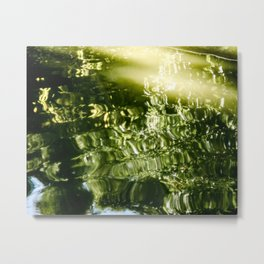 Reflecting Greens Metal Print