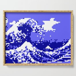 Pixel Tsunami Serving Tray
