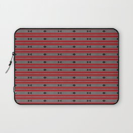 ethnic weave horizontal red Laptop Sleeve