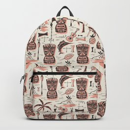 Tropical Tiki - Cream Pink Backpack