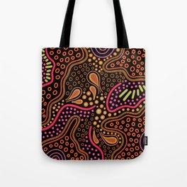 Colorful pink tribal map Tote Bag