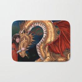 Golden Dragon Bath Mat