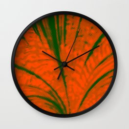 Dotted Power,orange Wall Clock