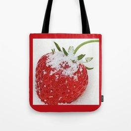 Strawberry loves sugar Tote Bag