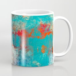 Aztec Turquoise Stone Abstract Texture Design Art Coffee Mug