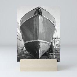 Shipyard Boat II Mini Art Print