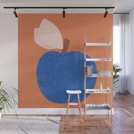 Blue Apple Wall Mural