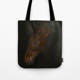 Bay Horse, Belgian Warmblood. Tote Bag