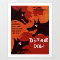 reservoir dogs Art Prints featuring Reservoir Dogs by grrrenadine
