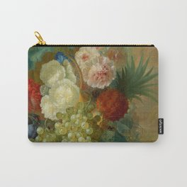"Jan van Os ""Still life of peonies, a cock's comb and morning glories"" Carry-All Pouch"
