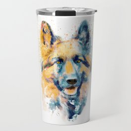 German Shepherd Dog Portrait Travel Mug