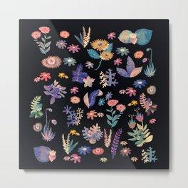 color flowers in the dark Metal Print