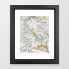 Gold Flecked Marble Framed Art Print