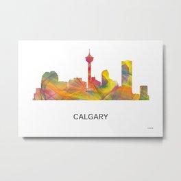 Calgary Alberta Canada Skyline WB1 Metal Print