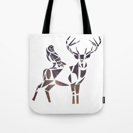 deer & owl Tote Bag