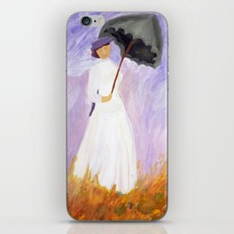 lady in white iPhone Skin
