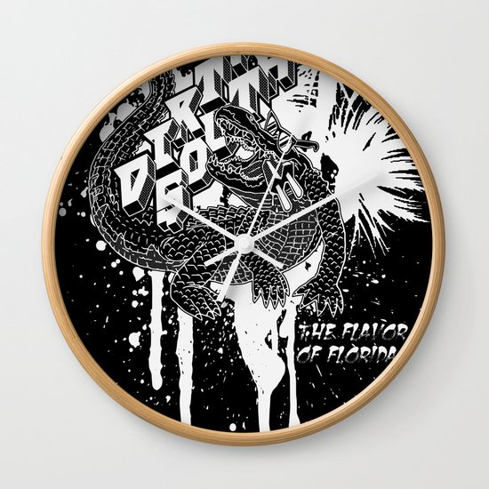 DIRTY SOUTH: The Flavor of Florida Wall Clock