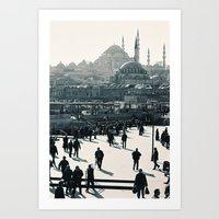 Istanbul's Mosques Art Print