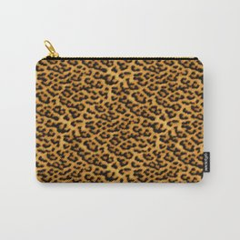 Chic Leopard Fur Fabric Carry-All Pouch