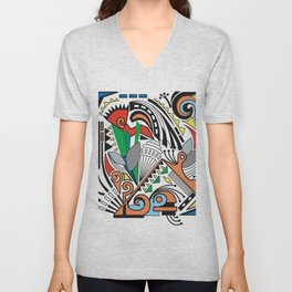 Abstract Dream Unisex V-Neck