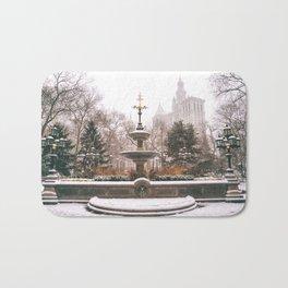 Winter in New York City Bath Mat