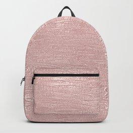 Metallic Rose Gold Blush Backpack