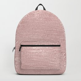 Metallic Rose Gold Blush Backpack