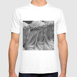 The Veiled Vestal Virgins marble sculpture by Raffaelo Mont black and white photograph T-shirt