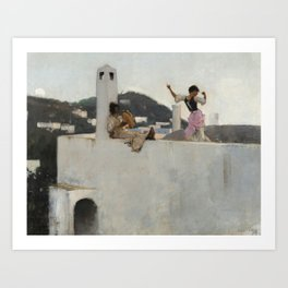 Capri Girl on a Rooftop - John Singer Sargent Art Print