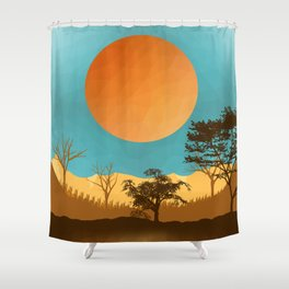 Autumn in midlle of nowhere Shower Curtain