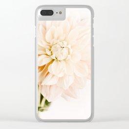Vanilla Truffle Dahlia Clear iPhone Case
