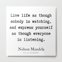 30 | Nelson Mandela  Quotes | 190818 Metal Print
