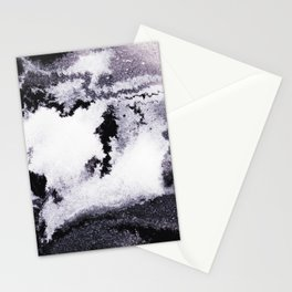titanium white / carbon black / silver Stationery Cards