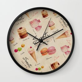 Sweets & Desserts Wall Clock