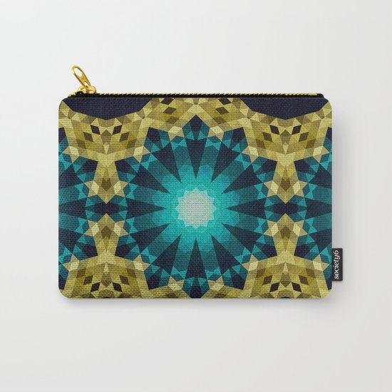 Greenish Blue Shapes Carry-All Pouch
