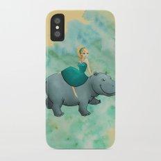 Lovely Hippo Slim Case iPhone X