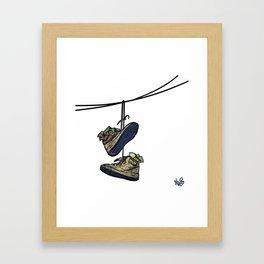 """Livin' For The City - """"Just For Kicks"""" Framed Art Print"""