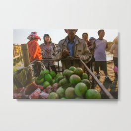 Vietnam Food Cart Metal Print