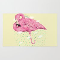 flamingo Area & Throw Rugs featuring Flamingo by dogooder