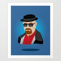 heisenberg Art Prints featuring Heisenberg by Kody Christian